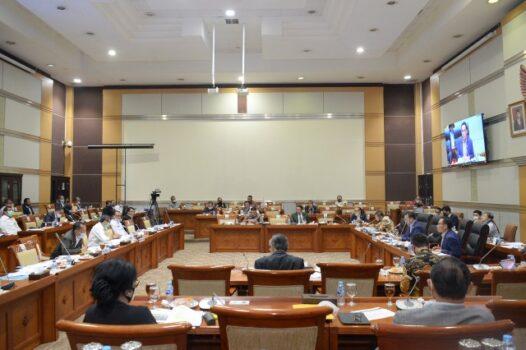 Raker Komisi III DPR RI dengan Menteri Hukum dan Ham di Ruang Rapat Komisi III DPR RI, Gedung Nusantara II, Senayan, Jakarta, Senin (22/6/2020).