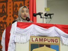Juru Bicara Pansus LHP BPK TA 2019 Provinsi Lampung, Lesty Putri Utami, menyampaikan rekomendasi Pansus DPRD Lampung terkait hasil penilaian BPK Lampung pada Sidang Paripurna DPRD Lampung, Jumat (3/7/2020).
