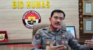 Kabid Humas Polda Lampung, Kombes Pol Zahwani Pandra Arsyad.