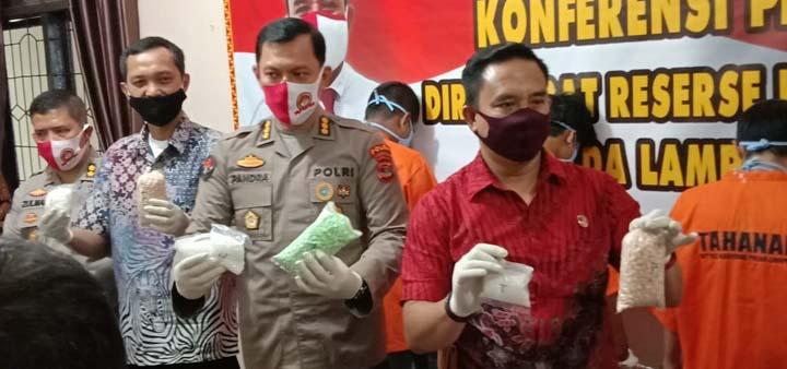 Polda Lampung Sita 8.400 Butir Pil Ekstasi di Natar