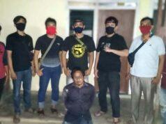 Junaidi (30), buronan perampasan sepeda motor modus berpura-pura sebagai petugas Satpam PT. SIL saat ditangkap Tekab 308 Polres Tulangbawang dan Polsek Menggala. (Foto: Dok Humas Polres Tuba)