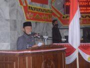 Plt. Bupati Lampung Utara, Budi Utomo saat menyampaikan KUA-PPAS tahun 2021