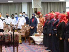 Pengukuhan pengurus YJI kabupaten - kota di Lampung, Rabu (15/7/2020).