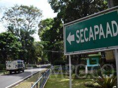 Penunjuk arah menuju Secapa TNI AD di Hegarmanah, Bandung, Kamis, 9 Juli 2020. Hanya ada 17 orang yang saat ini dirawat dan diisolasi di Rumah Sakit Dustira Cimahi, sementara sisanya tidak menunjukkan gejala. TEMPO/Prima mulia