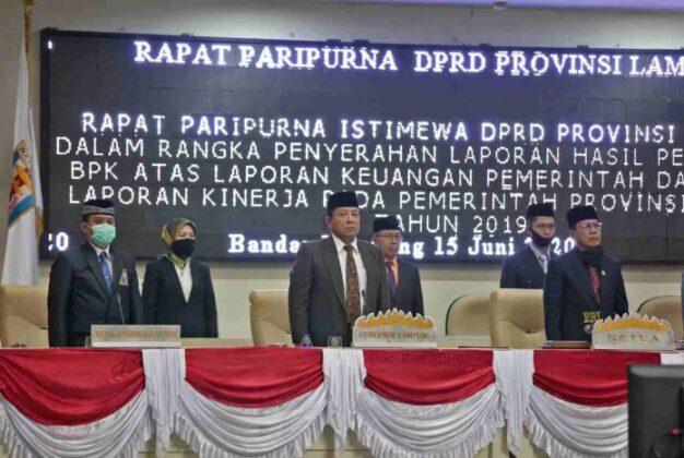 Pemprov Lampung Raih WTP dari BPK