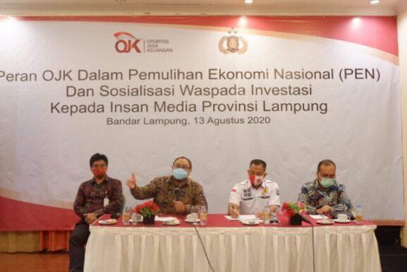 OJK Lampung  Hentikan 160 Entitas Investasi Ilegal