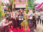 """Waka Polda Lampung Brigjen Pol Sudarsono saat meresmikan Desa Pasuruan, Kecamatan Penengahan, Lampung Selatan sebagai pilot project """"Kampung Tangguh Ruwa Jurai"""", Jumat (14/8/2020)."""