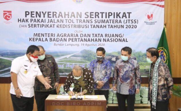 Khawatir Lahan Berkurang, Gubernur Lampung Minta Dukungan Menteri ATR Lindungi LP2B
