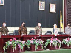 Pembukaan Rapat Koordinasi Pencegahan Korupsi dan Pilkada Bersih dengan seluruh Kepala Daerah Kabupaten/Kota di Provinsi Lampung, di Gedung Pusiban Kantor Gubernur Lampung, Kamis (6/8/2020).