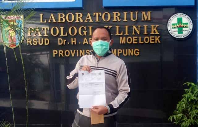 Bakal Calon Wakil Bupati Lamsel Antoni Imam Sembuh dari Covid-19
