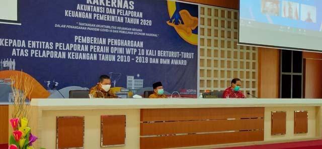 Raih WTP 10 Kali Berturut-turut, Pemkot Bandarlampung Raih Penghargaan dari Menteri Keuangan