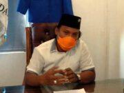 Ketua KNPI Kota Bandarlampung Iqbal Ardiansyah memberikan keterangan pers terkait pernyataan salah seorang komisioner Bawaslu Provinsi Lampung.