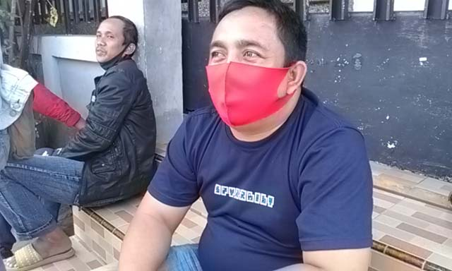 Jumawan, Ketua RT 07 Lk. 01 Kelurahan Sukajawa, Tanjungkarang Barat saat memberikan keterangan kepada teraslampung.com, Senin (14/9/2020).