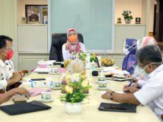 Rapat Koordinasi Pembangunan Pangan Gizi Provinsi Lampung yang dipimpin oleh Wakil Gubernur Lampung Chusnunia Chalim (Nunik), di Ruang Kerja Wakil Gubernur, Rabu (30/09/2020).