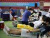 Para anggota Gereja Shincheonji di Korea Selatan mendonasikan plasma darah di Daegu Athletics Center, Korea Selatan.
