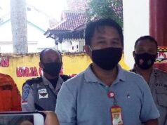 Ketua Posko Gugus Tugas Percepatan penanganan COVID-19 Lampung Utara, Sanny Lumi saat menjelaskan adanya pertambahan kasus positif baru Covid-19 di Lampung Utara, Minggu (13/9/2020).