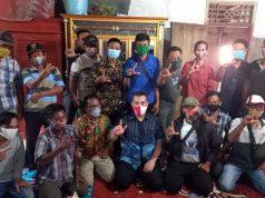 Dendi ketika berkampanye tatap muka di Desa Batu Menyan, Kecamatan Teluk Pandan, Rabu (21/10/2020).