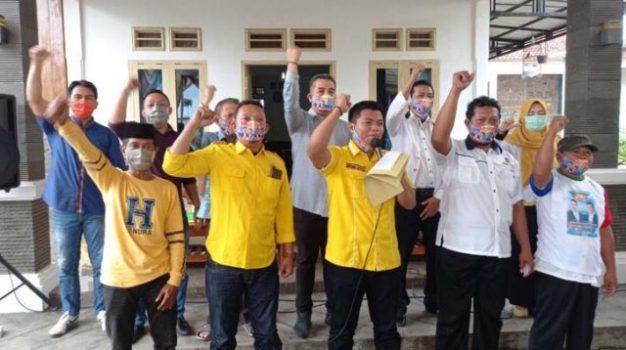 Dendi Ramadhona pada rapat konsolidasi internal partai pengusung di Kecamatan Negeri Katon, Jumat (2/10/2020)