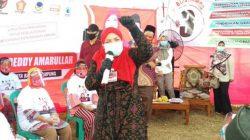 Eva Dwiana berkampanye di Kelurahan Kupang Raya, Kecamatan Telukbetung Utara, Jumat, 23 Oktober 2020.