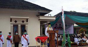 upacara peringatan Hari Santri Nasional di Ponpes Madarijul Ulum Batuputu , Bandarlampung, Kamis (22/10/2020).
