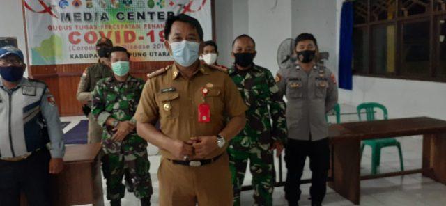 Ketua Sekretariat Posko Satuan Tugas Percepatan Penanganan Covid-19 Lampung Utara, Sanny Lumi menyampaikan penambahan 9 kasus baru Covid-19, Selasa (13/10/2020).