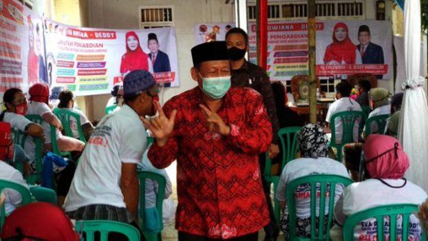 Calon wakil walikota nomer tiga Deddy Amarullah kampanye di Kelurahan Tanjungraya, Kecamatan Kedamaian.