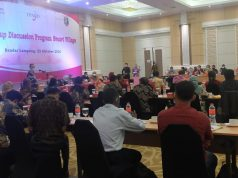Focus Group Discussion (FGD) Program Smart Village, di Hotel Swissbell Bandar Lampung, Jumat (23/10/2020).