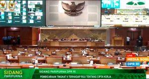 Sidang Paripurna DPR RI Masa Persidangan I Tahun Sidang 2020/2021 / Youtube DPR RI