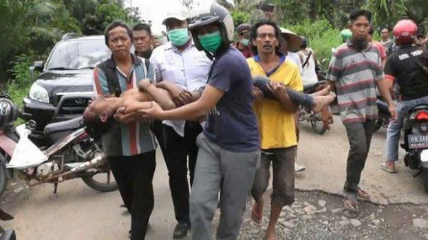 Seorang Pria Ditemukan Bersimbah Darah di Kebun Sawit di Kotaalam Lampung Utara