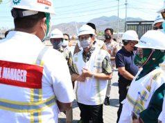 Menteri Desa, Pembangunan Daerah Tertinggal dan Transmigrasi (PDTT) Abdul Halim Iskandar menyambangi Pelabuhan Bima, Nusa Tenggara Barat, Sabtu (7/11/2020).