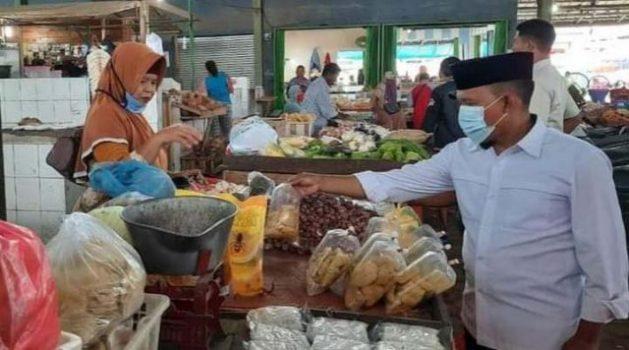 Blusukan di Pasar, Antoni Imam Borong Bahan Empon-Empon dan Mengedukasi Soal Prokes