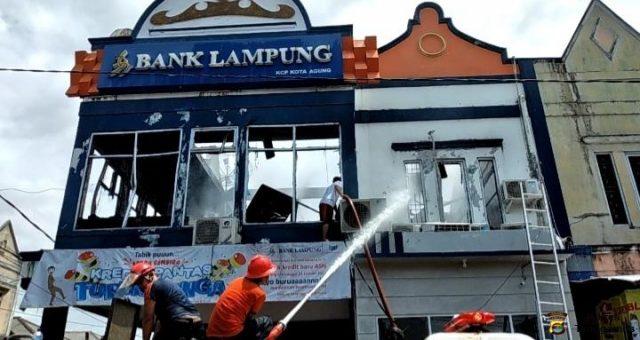 Pasca-Kebakaran KCP Kotaagung, Bank Lampung Siap Layani Nasabah