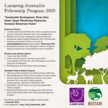 AJI Bandarlampung-Bestari Beri Beasiswa Peliputan Konservasi Hutan