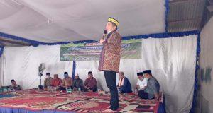 Dendi Ramadhona pada peringatan Maulid Nabi Muhammad SAW di Desa Padangcermin, Jumat (13/11/2020).