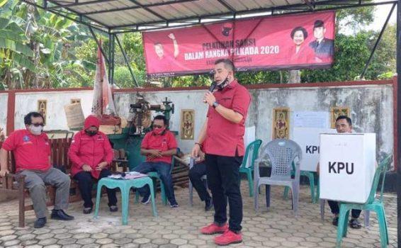 Pilkada Pesawaran, Dendi Ikuti Simulasi Pemilihan di TPS Negeri Sakti