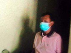 Oknum anggota DPRD Lampung Utara, Hatami yang ditetapkan tersangka Pasal 480 dan diamankan di Polsek Tanjung Bintang. (Foto: Ist)