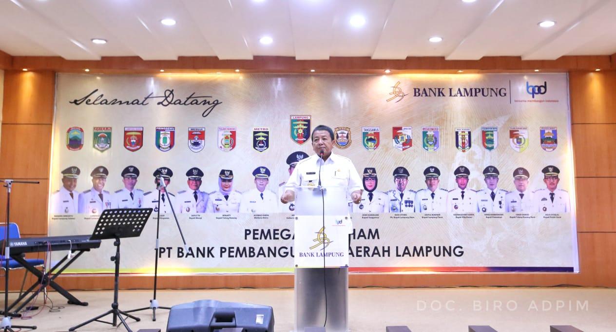 Gubernur Arinal Minta Jajaran Direksi PT.Bank Lampung Profesional
