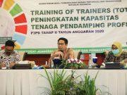 Mendes PDTT Abdul Halim Iskandar pada acara Training of Trainer (TOT) Peningkatan Kapasitas Tenaga Pendamping Profesional (TPP) di Bogor, Kamis (03/12/2020).