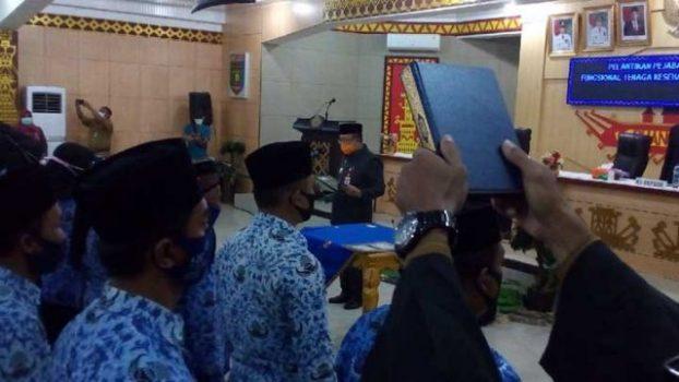 Sekda Lampung Utara Lantik 62 Pejabat Fungsional