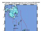 Pusat gempa bumi di Kepulauan Talaud, Sulawesi Utara, Kamis malam (21/1/2021). Sumber: BMKG