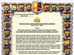 Maklumat Kapolri tentang pelarangan kegiatan FPI. Foto: Istimewa