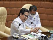 Menteri Desa PDTT Abdul Halim Iskandar saat Rapat Kerja dengan Komisi V DPR RI di Jakarta, Senin (18/02/2021).