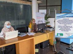 Bagian pelayanan pelanggan PDAM Way Rilau Kota Bandarlampung.