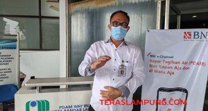 Kabag Humas dan Pelanggan PDAM Way Rilau, Agung Purnama.