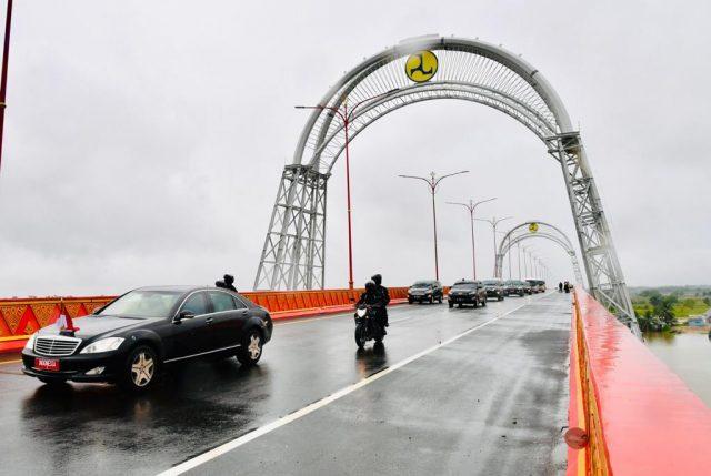 Jalan Tol Kayu Agung - Palembang - Betung yang baru saja diresmikan Presiden Jokowi, Selasa (26/1/2021).