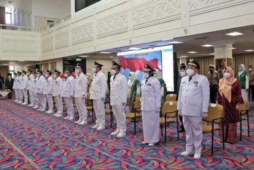 Lantik Tujuh Kepala Daerah-Wakil Kepala Daerah, Ini Pesan Gubernur Arinal