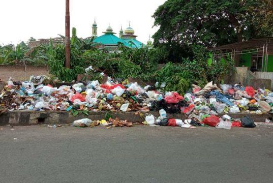 Entah karena petugasnya lupa atau memang belum diangkut oleh armada pengangkut sampah, tumpukan sampah di samping Kantor Dinas Kependudukan dan Catatan Sipil Lampung Utara masih saja teronggok hingga Kamis pagi 18 Februari. Ironisnya, pemandangan tak sedap ini hanya berjarak sekitar 500 meter dari Kantor Pemkab Lampung Utara.Foto dibidik pada Kamis (19/2/2021) sekitar pukul 07.34 WIB. Foto: Teraslampung.com/Feaby Handana