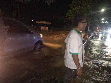 Hujan Deras di Bandarlampung, Kedaton – Rajabasa Dilanda Banjir
