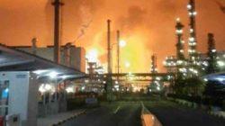 Kilang minyak di Indramayu, Jawa Barat, terbakar, Senin dini hari (29/3/2021).