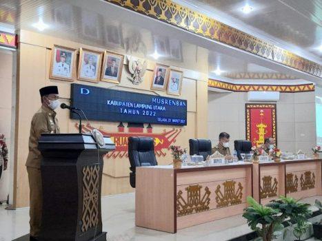 Musrenbang Lampung Utara 2022, Bupati Budi Utomo Ajak Semua Pihak Bekerja Keras